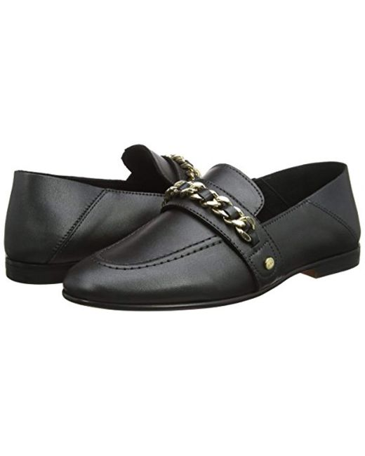 a9a46b667bb3 Tommy Hilfiger  s Chain Detail Loafers in Black - Save 50% - Lyst