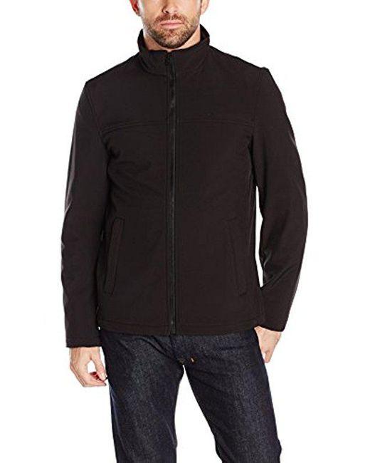 Dockers - Black Soft Shell Open Bottom Jacket for Men - Lyst