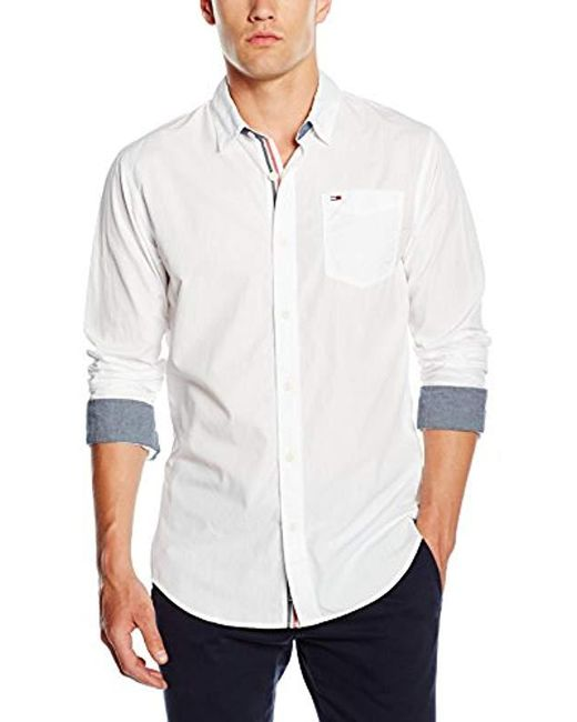 c478fc7a Tommy Hilfiger - White Original End On End Long Sleeve Classic Casual Shirt  for Men ...
