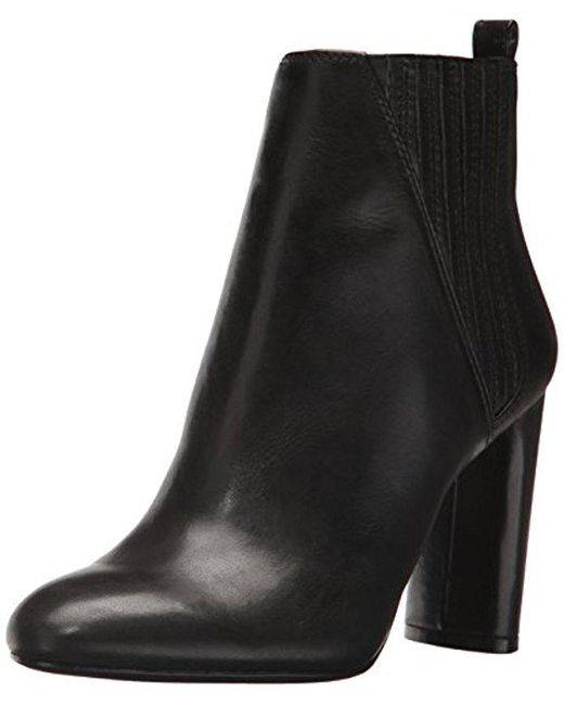Vince Camuto - Black Fateen Ankle Boot - Lyst