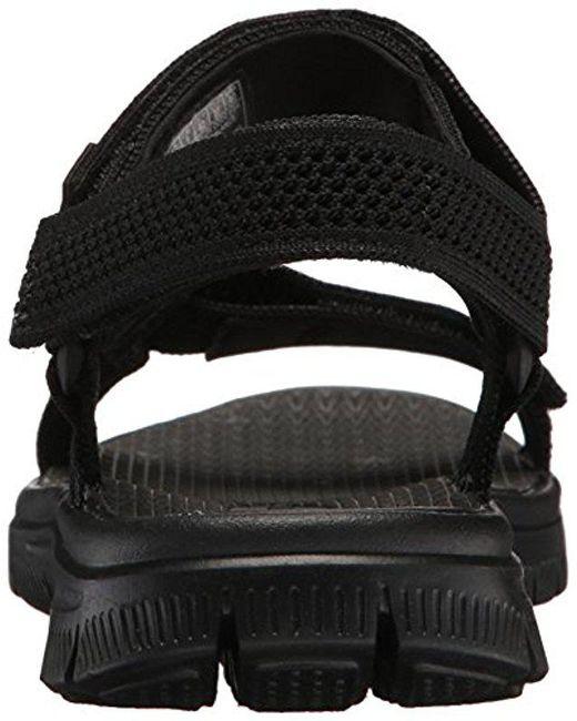 306154a392f4 ... Lyst Skechers - Black Sport Flex Advantage S Fisherman Sandal