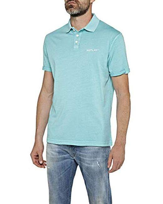 1ba622a8 Replay - Blue Polo Shirt for Men - Lyst ...