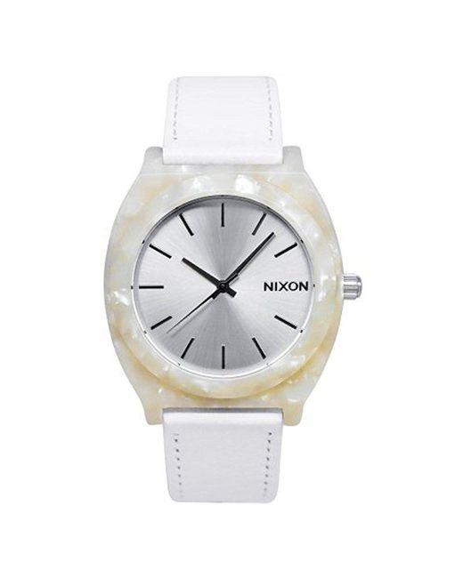 Nixon - Black A328-029 Plastic Analog White Dial Watch - Lyst