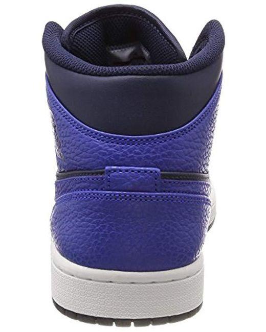 9ce2553e8fb3b4 ... Nike - Blue Air Jordan 1 Mid Basketball Shoes for Men - Lyst ...