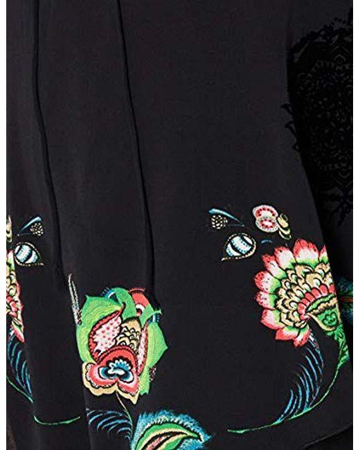Dress Black Vest Desigual 8swfwgqtyg Brendon Lyst In 6yY7vgbf