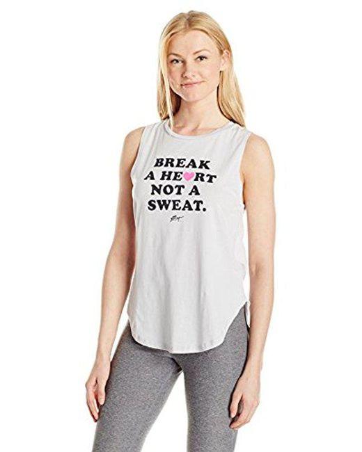 Betsey Johnson - Gray Break A Heart High Low Muscle Tank - Lyst