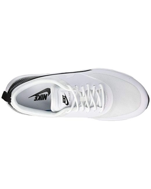 release date d072e 9829f ... Nike - White Air Max Thea Low-top Sneakers Black - Lyst