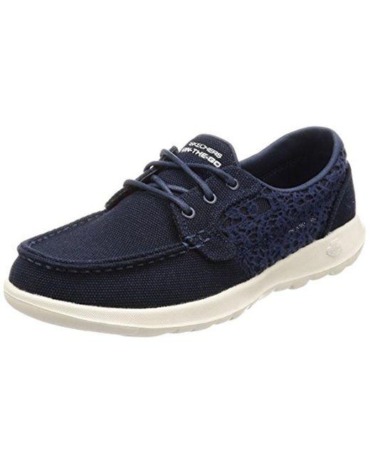Skechers - Blue Go Walk Lite-15431 Boat Shoe - Lyst