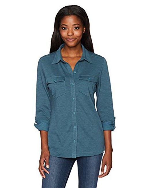 Columbia - Blue Easygoing Button Down Shirt - Lyst