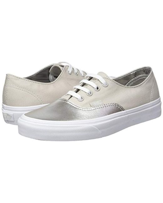 39cb8fd721 ... Vans - Metallic Ua Authentic Decon Low-top Sneakers - Lyst ...