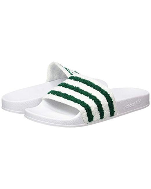 15b1e9fda28 Adidas  s Adilette Loafers in Green for Men - Lyst