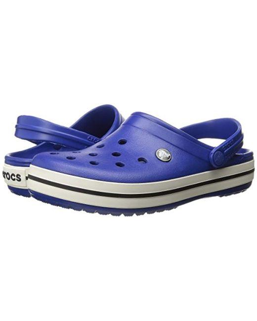 910d7e8878e8 ... Crocs™ - Blue Unisex Adult Crocband Clogs for Men - Lyst ...