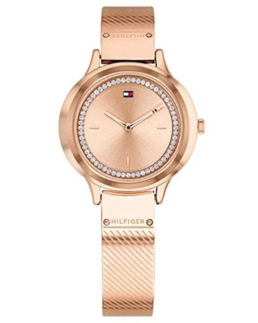 9a3d24a15091 Tommy Hilfiger - Multicolor Reloj Analógico para Mujer de Cuarzo con Correa  en Acero Inoxidable 1781911 ...