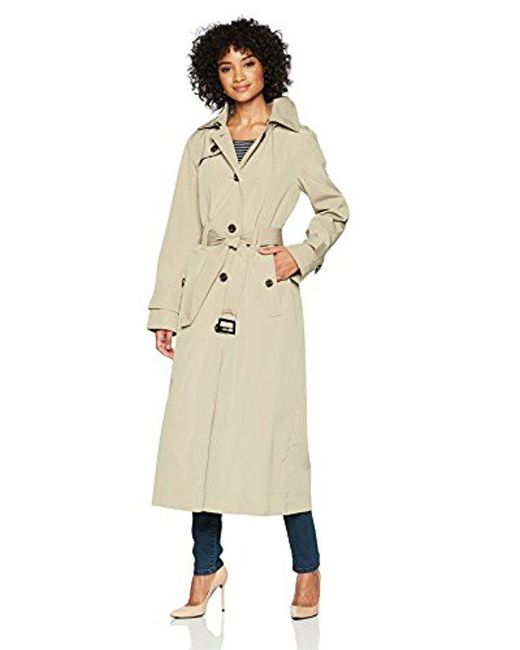 London Fog - Natural Maxi-length Trench Coat - Lyst