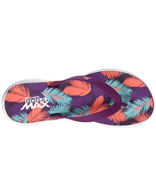 470377cce25f ... Skechers - Purple H2 Goga-lagoon Flip Flops - Lyst