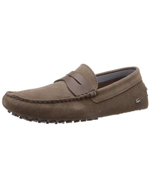 Lacoste - Brown Concours 18 Slip-on Loafer for Men - Lyst