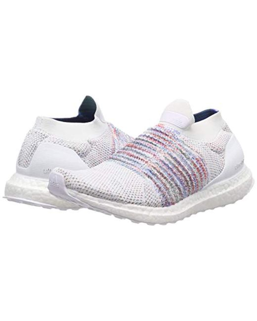 ed6f73bb41756 adidas Ultraboost Laceless W Running Shoes in White - Lyst