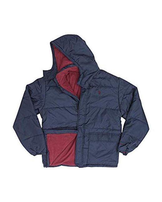 Lyst - U.S. POLO ASSN. Classic Short Bubble Jacket in Blue ...