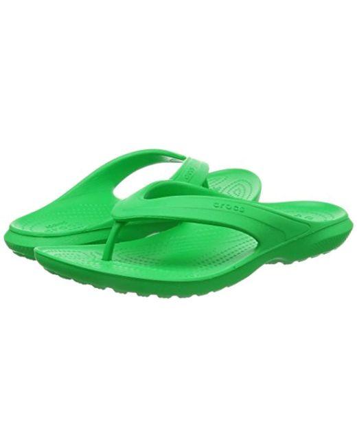 da69e0fd0 ... Crocs™ - Green Unisex Adults  Classic Flip Grssgrn Open Back Slippers  ...