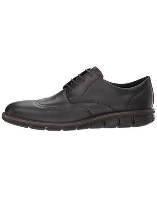 90d5ebea0514 ... Ecco - Black Jeremy Tie Oxford for Men - Lyst ...