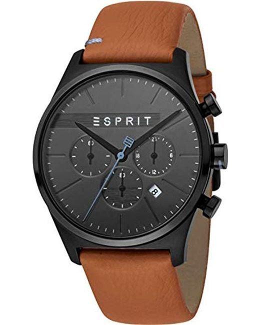 3d333315bd88 Esprit - Multicolor Reloj Cronógrafo para Hombre de Cuarzo con Correa en  Cuero ES1G053L0035 for Men
