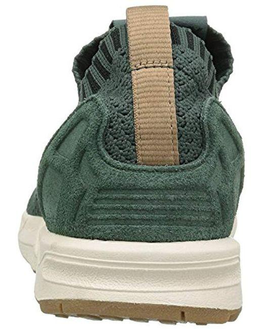 reputable site 5e9c6 b5059 ... Adidas Originals - Green Zx Flux Primeknit (utility Ivy utility  Ivy gum) ...
