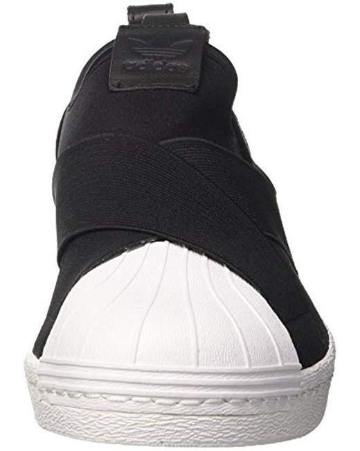 84590eaf5d3 ... Adidas - Black Superstar Slipon