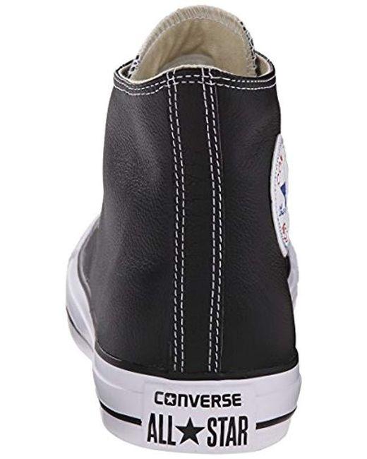 b5952dd125e4 ... Converse - Black Chuck Taylor All Star Leather High Top Sneaker - Lyst  ...