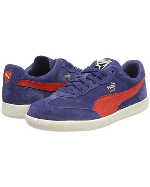 13bf5c75f07f2a PUMA Unisex Adults  Liga Suede Shoes in Blue - Save 42% - Lyst