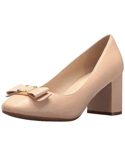 Cole Haan - Natural Tali Bow Pump (nude Leather) Women's Shoes - Lyst