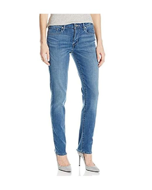 Levi's - Blue Mid Rise Skinny Jeans - Lyst