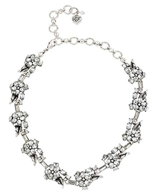 Betsey Johnson - Multicolor Something New Crystal Flower Collar Necklace - Lyst