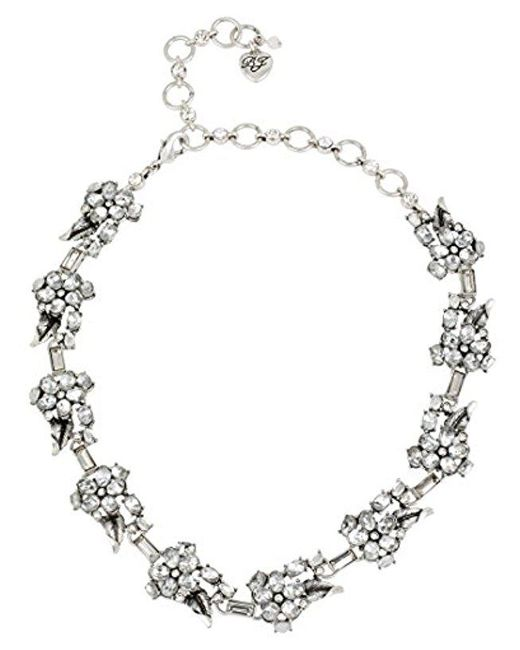 """Betsey Johnson - Multicolor """"something New"""" Crystal Flower Collar Necklace - Lyst"""