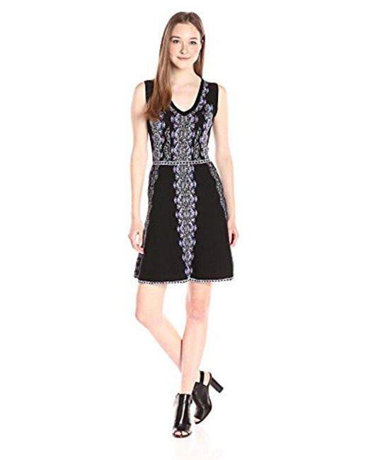 Nanette Lepore - Black Mystical Stitch Dress - Lyst