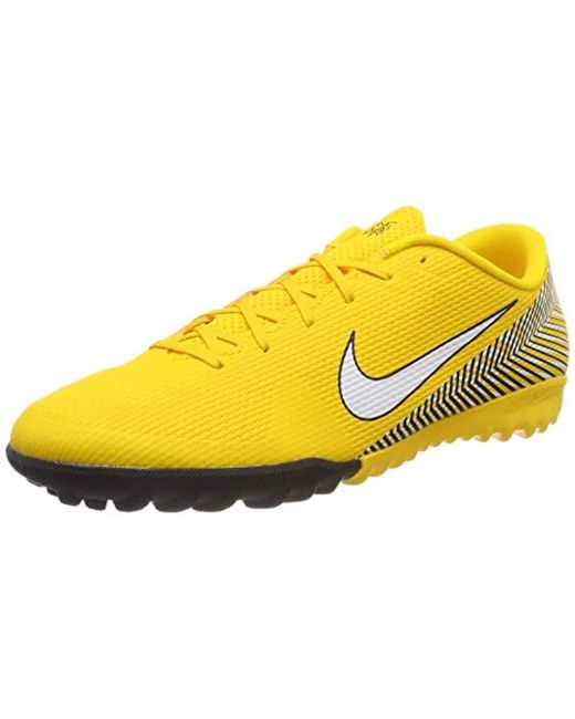 the latest f922b 1c6dc Nike - Yellow Unisex Adults  Vapor 12 Academy Njr Tf Fitness Shoes ...