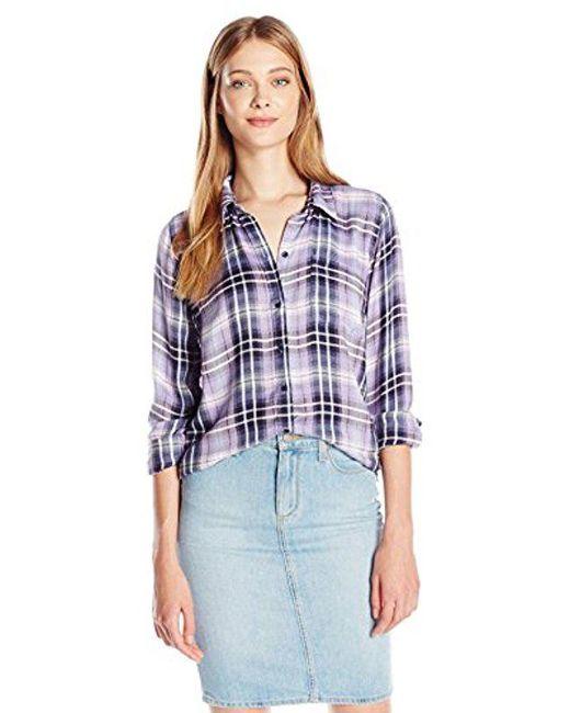 Lucky Brand - Purple Bungalow Plaid Shirt - Lyst