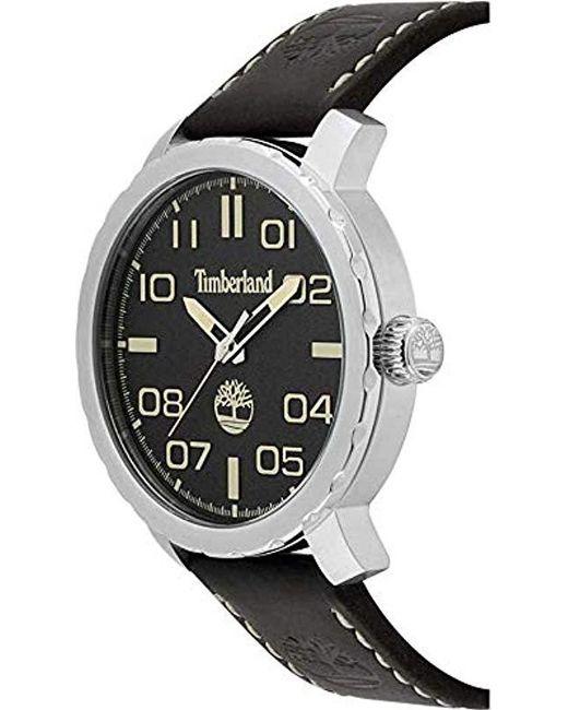 a3b63809e05e Timberland - Black Reloj Análogo clásico para Hombre de Cuarzo con Correa  en Cuero TBL.