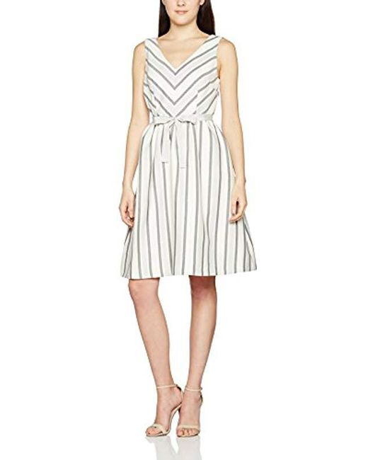 Great Plains - White Sofia Stripe Dress - Lyst