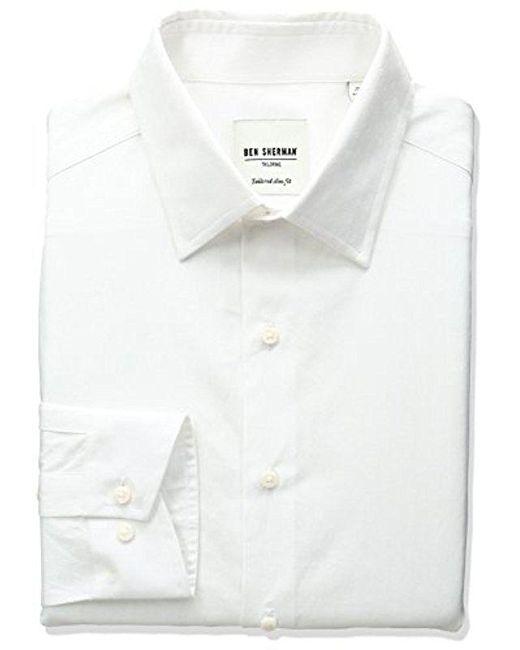 Ben Sherman - White Spread Collar Texture Dress Shirt for Men - Lyst
