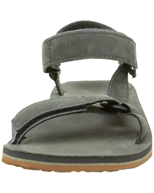 364a075a55c7 ... Teva - Gray Original Universal Premium Leather Sports And Outdoor  Lifestyle Sandal for Men - Lyst ...