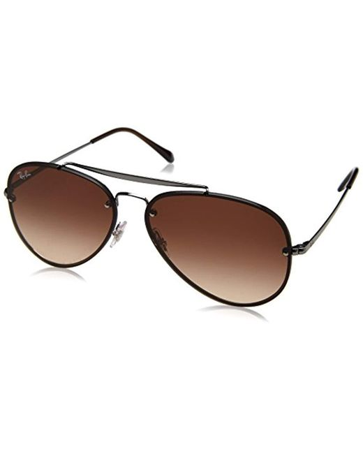 66f516d3fe Ray-Ban - Blaze Aviator Sunglasses In Gunmetal Brown Gradient Rb3584n 004 13  61 ...