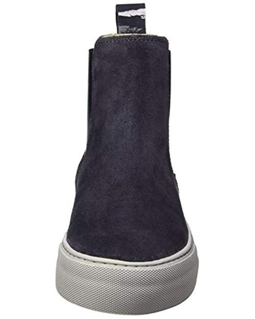 low priced 0f253 38783 Marc O'polo Flat Heel 70814195001309 Chelsea Boots in Blue ...