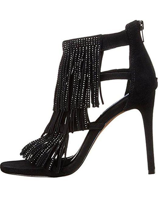 Steve Madden - Black Fringlyr Dress Sandal - Lyst