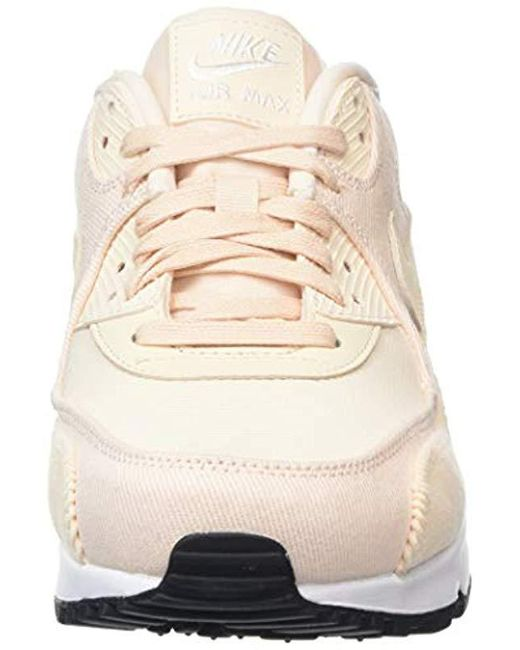 7e197d61e1c3cf ... Lyst Nike - Pink Wmns Air Max 90 Lea Sneakers