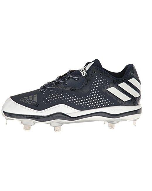 Lyst adidas originali mostro x carbonio metà baseball scarpa blu per gli uomini.