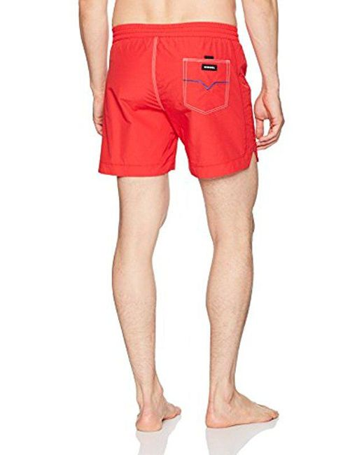 2481e91963 Lyst - DIESEL Dolphin Solid Swim Short in Red for Men - Save 24%