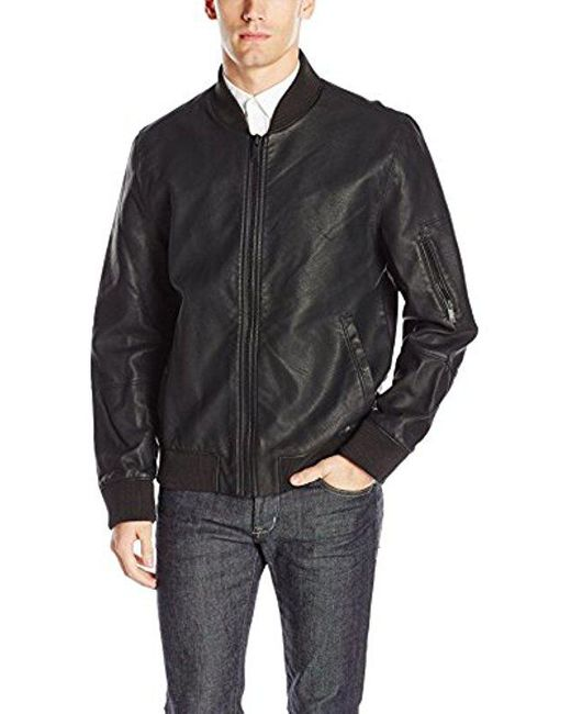CALVIN KLEIN 205W39NYC - Black Jeans Faux Leather Aviator Jacket for Men - Lyst