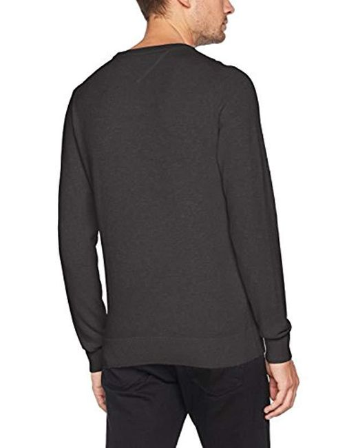 ... Tommy Hilfiger - Gray Pique Ctn C-nk Cf Sweater for Men - Lyst a6899863a7f