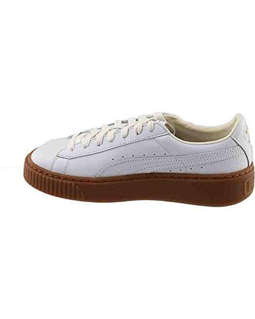 Lyst - PUMA Basket Platform Core Fashion Sneaker in White - Save 61% 0940292d7