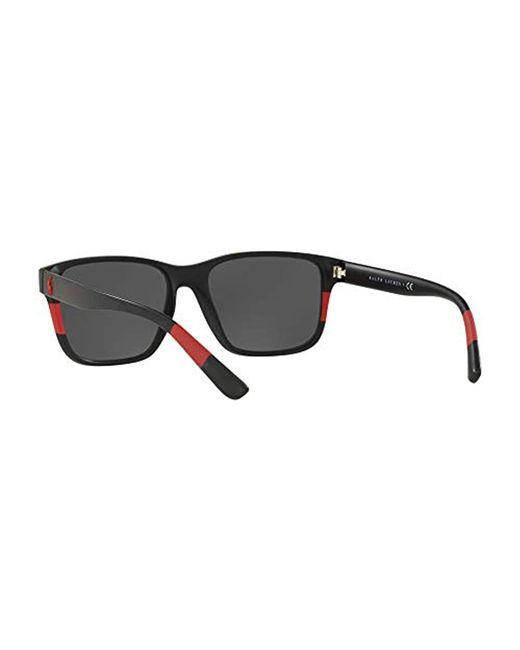 f52edb87ee30c ... Polo Ralph Lauren - 0ph4137 Oval Sunglasses Matte Black red 57.0 Mm for  Men ...